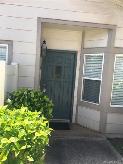 Ewa Beach Condo/Townhouse For Sale: 91-1081 Kaileolea Drive #2E1