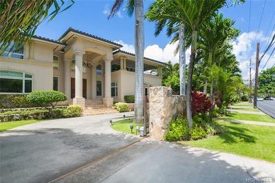 Honolulu Single Family Home For Sale: 4902 Kahala Avenue