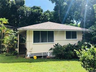 Honolulu Single Family Home For Sale: 2357 D Palolo Avenue