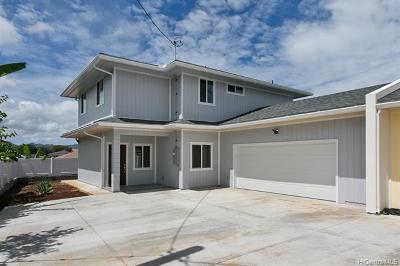 Honolulu County Single Family Home For Sale: 20 Kaliko Drive