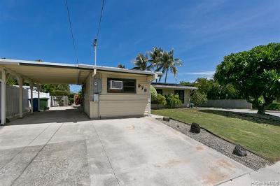 Single Family Home For Sale: 978 Kahili Street