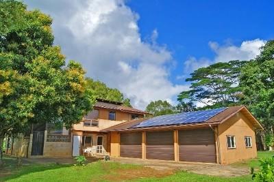 Kapaa Single Family Home For Sale: 6510 Kahuna Rd #2