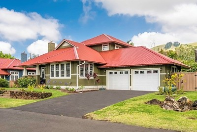Kamuela Single Family Home For Sale: 65-1296 Hoku Rd