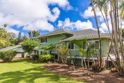 Kapaa Single Family Home For Sale: 6420 Puupilo Rd