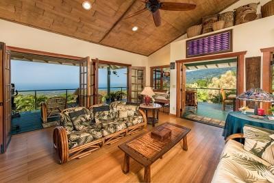 Captain Cook Single Family Home For Sale: 83-1022 Kahauloa Pl