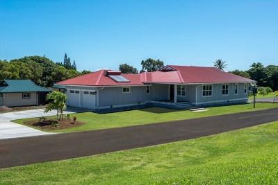 Hawi, Kapaau Single Family Home For Sale: 54-3723 Lehuula Cir