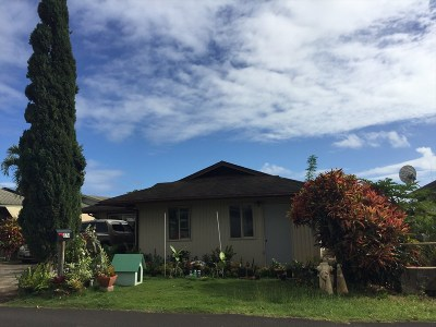 Kapaa Single Family Home For Sale: 378 Likeke Pl