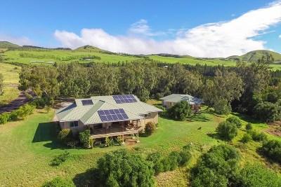 Waimea, Kamuela Single Family Home For Sale: 62-1725 Ohiaku Pl