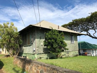 Hawi, Kapaau Single Family Home For Sale: 54-2475 Kynnersley Rd