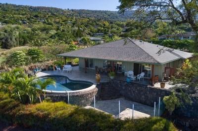 Captain Cook Single Family Home For Sale: 83-991 Kapukalua Pl