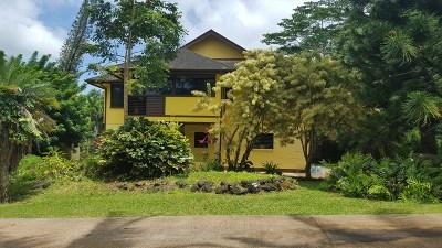 Kapaa Single Family Home For Sale: 1440 Kanepoonui Rd
