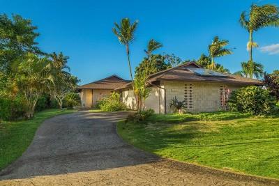 Kauai County Single Family Home For Sale: 5282 Honoiki Rd