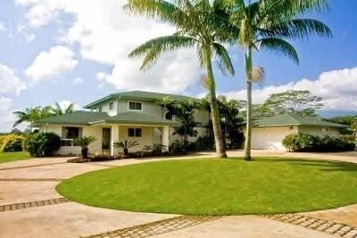 Kapaa Single Family Home For Sale: 6393-H Waipouli Rd #2