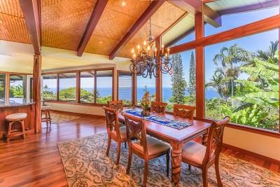 Kailua-Kona HI Single Family Home For Sale: $1,275,000
