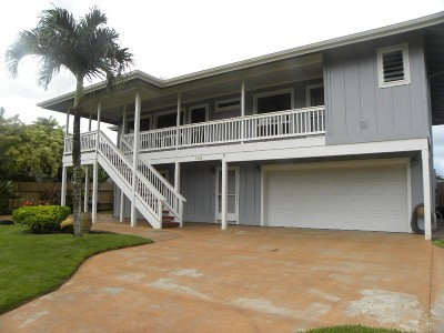 Kapaa Single Family Home For Sale: 6608 Alahele St