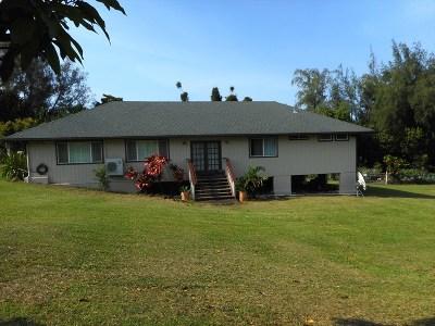 Hawi, Kapaau Single Family Home For Sale: 53-4411 Akoni Pule Hwy