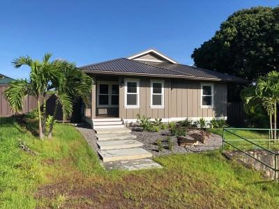 Hawaii County Single Family Home For Sale: 54-3758 Hinahina Rd