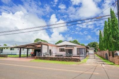 Kapaa Single Family Home For Sale: 5050 Kawaihau Rd