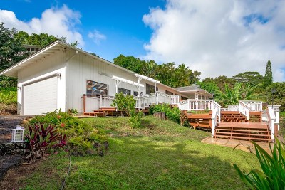 Kauai County Single Family Home For Sale: 3877-A Omao Rd #1