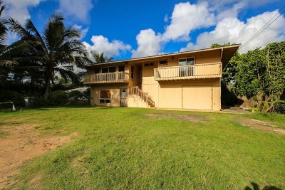 Kauai County Single Family Home For Sale: 879 Niulani Rd