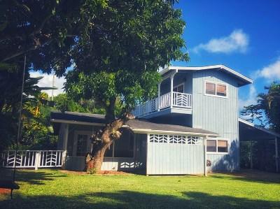 Single Family Home For Sale: 1720-B Kaehulua Pl #2