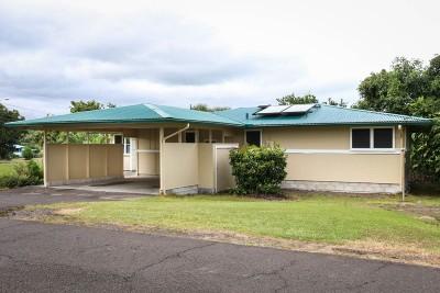Hilo Single Family Home For Sale: 1021 Komohana St