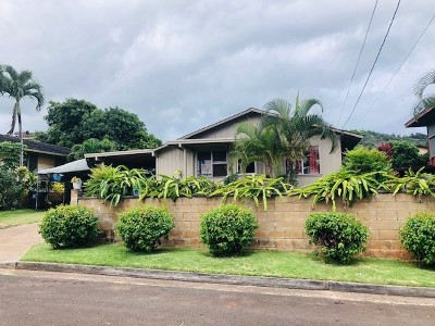Lihue Single Family Home For Sale: 3939 Lawehana St