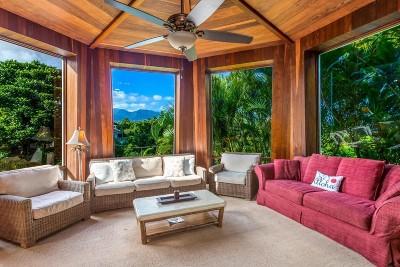 Kauai County Single Family Home For Sale: 3576 Kaweonui Rd