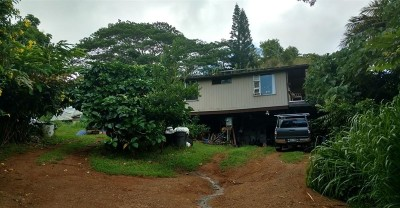 Kapaa Single Family Home For Sale: 6546 Kuamoo Rd