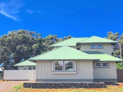 Kamuela Single Family Home For Sale: 65-1240 Lindsey Rd