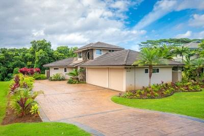 Kauai County Single Family Home For Sale: 4034 Aloalii Dr