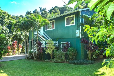 Kauai County Single Family Home For Sale: 3086 Lauoho Rd