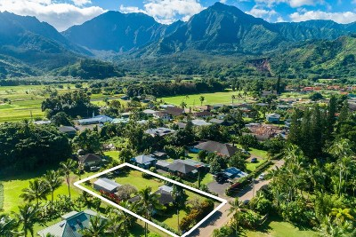 Hanalei Single Family Home For Sale: 5243 Weke Rd