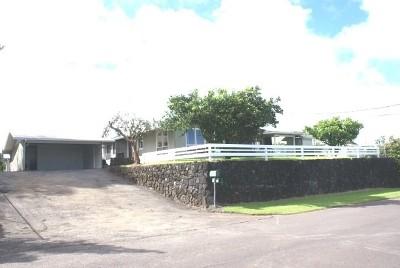Hilo Single Family Home For Sale: 33 Kaulana St