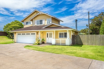 Single Family Home For Sale: 67-1283 Mamalahoa Hwy
