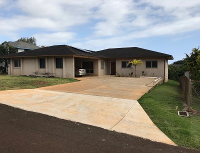 Kauai County Single Family Home For Sale: 3741 Lohe Road