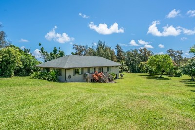 Hawi, Kapaau Single Family Home For Sale: 53-4411 Akoni Pule Hwy