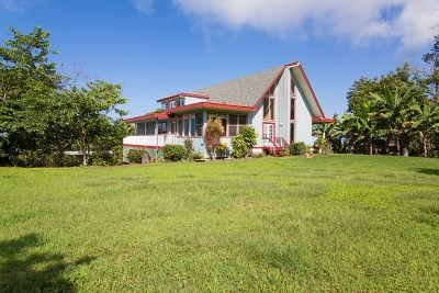 Holualoa Single Family Home For Sale: 78-1134 Bishop Road