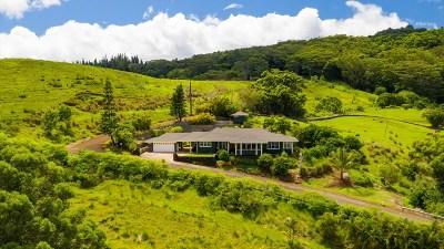 Kauai County Single Family Home For Sale: 5383 Puulima Rd #A