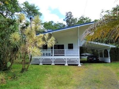 Pahoa HI Single Family Home For Sale: $153,500