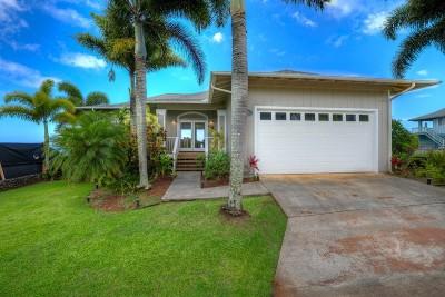 Kauai County Single Family Home For Sale: 1211 Pua Melia Street