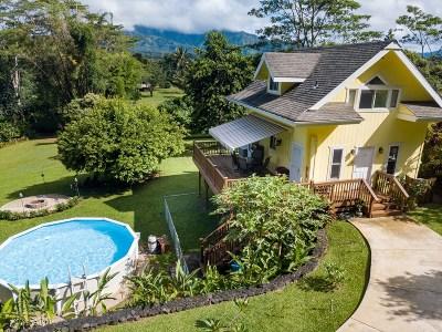 Kauai County Single Family Home For Sale: 564-C Kamalu Rd #A