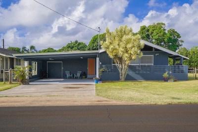 Kauai County Single Family Home For Sale: 4941 Haleilio Rd #2