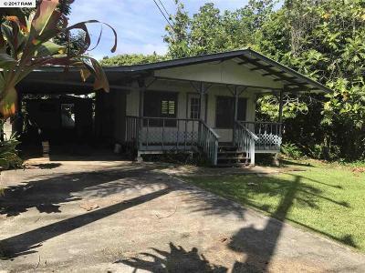 Haiku Single Family Home For Sale: Wailua Rd