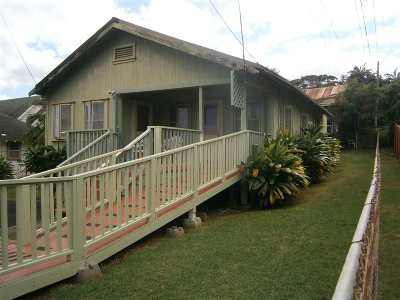 Wailuku Single Family Home For Sale: 2433 W Vineyard St