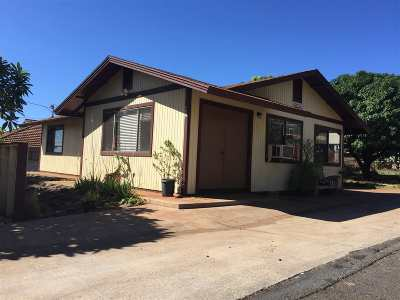 Single Family Home For Sale: 457 Lahainaluna Rd