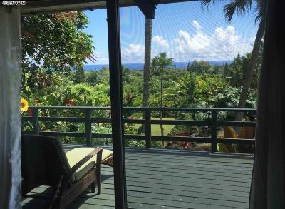Hana Single Family Home For Sale: 80 Maia Rd