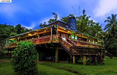 Hana Single Family Home For Sale: 75 Alalele Pl