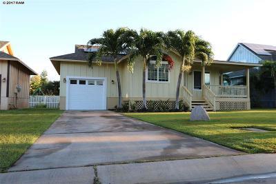Single Family Home For Sale: 165 Oluea Cir