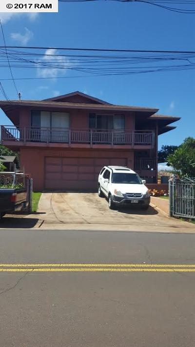 Kihei Single Family Home For Sale: 276 Moi Pl